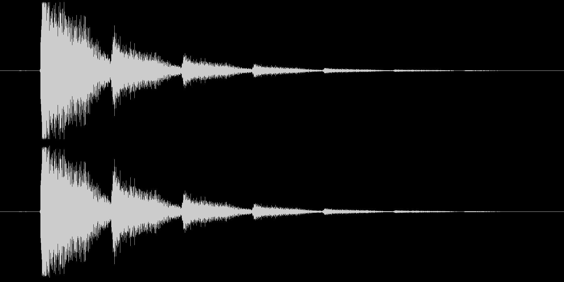 短いエレキギターロゴの未再生の波形