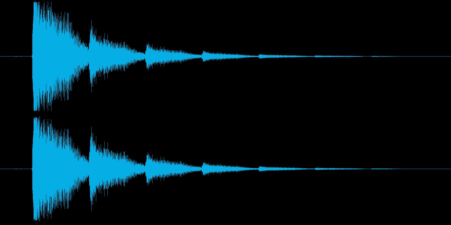 短いエレキギターロゴの再生済みの波形