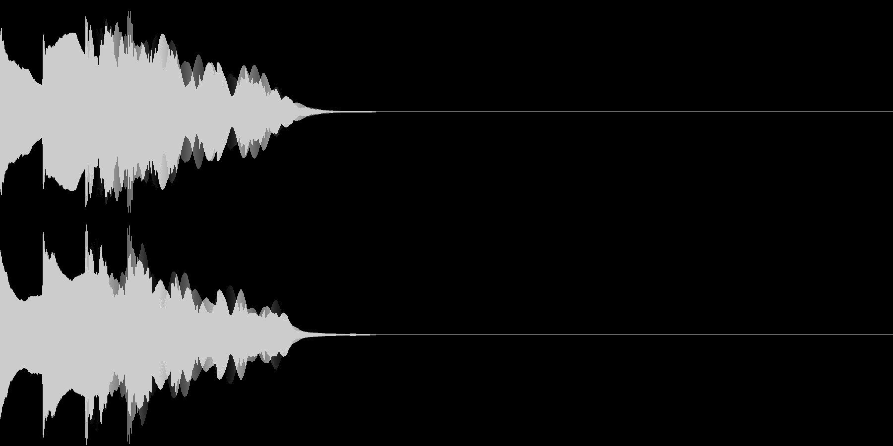 多用途効果音-07C(放送チャイム下降)の未再生の波形