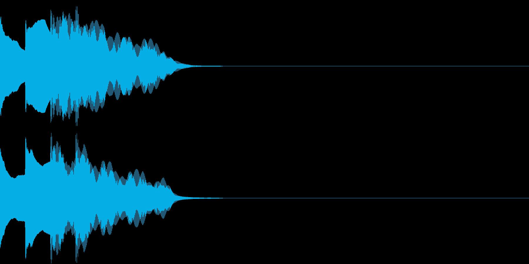 多用途効果音-07C(放送チャイム下降)の再生済みの波形