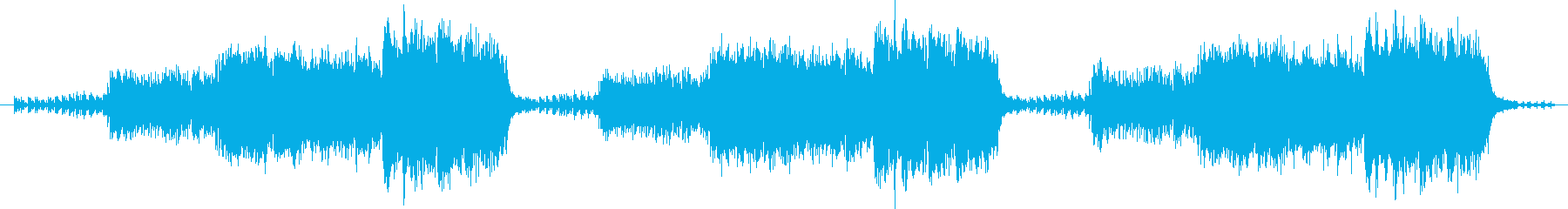 Mysterious and mysterious melody's reproduced waveform