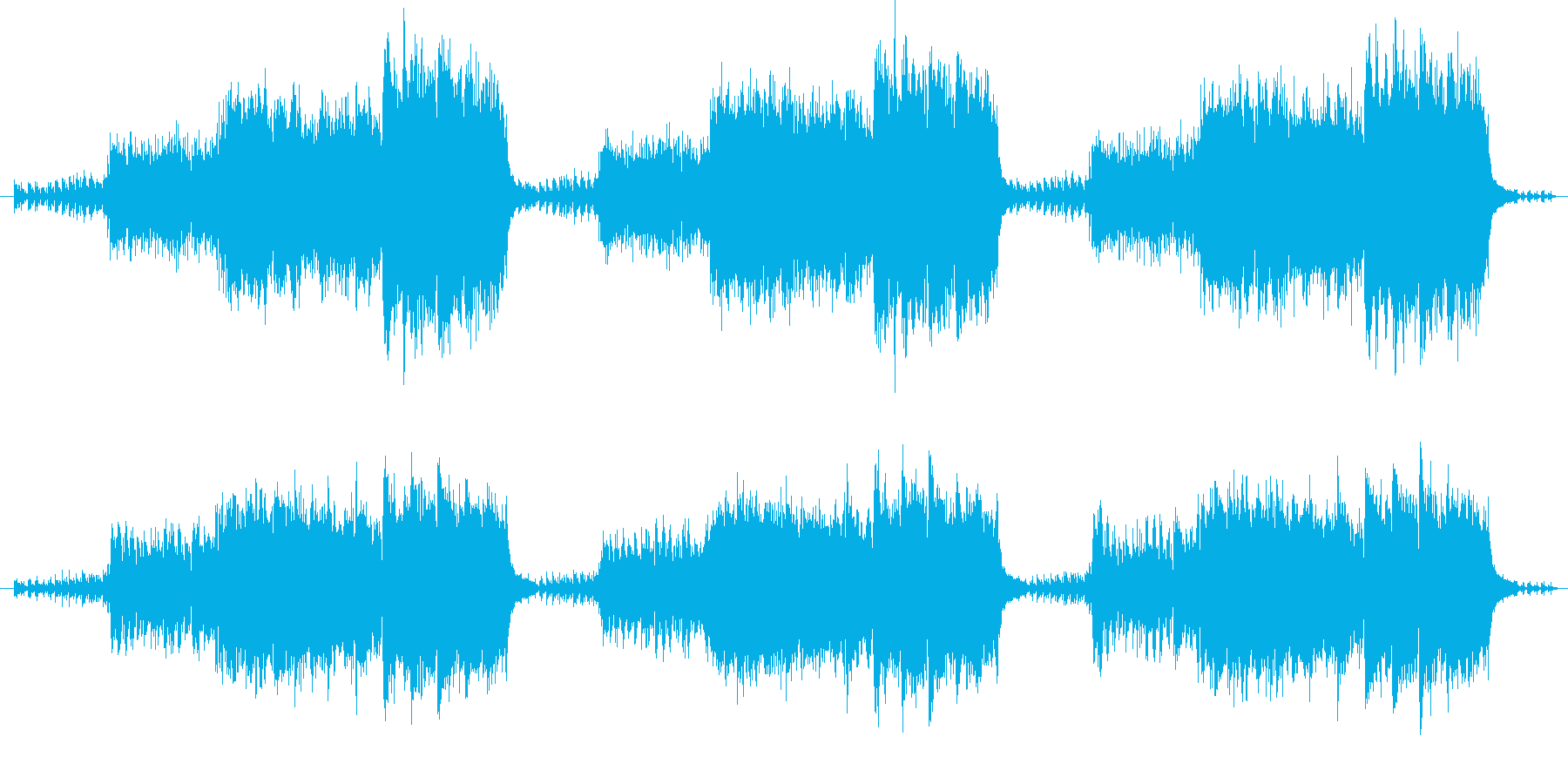 不思議で神秘的なメロディーの再生済みの波形