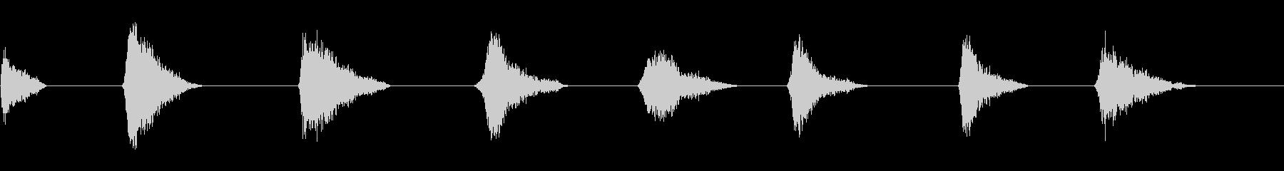ランブルスライド:8つの異なるイン...の未再生の波形