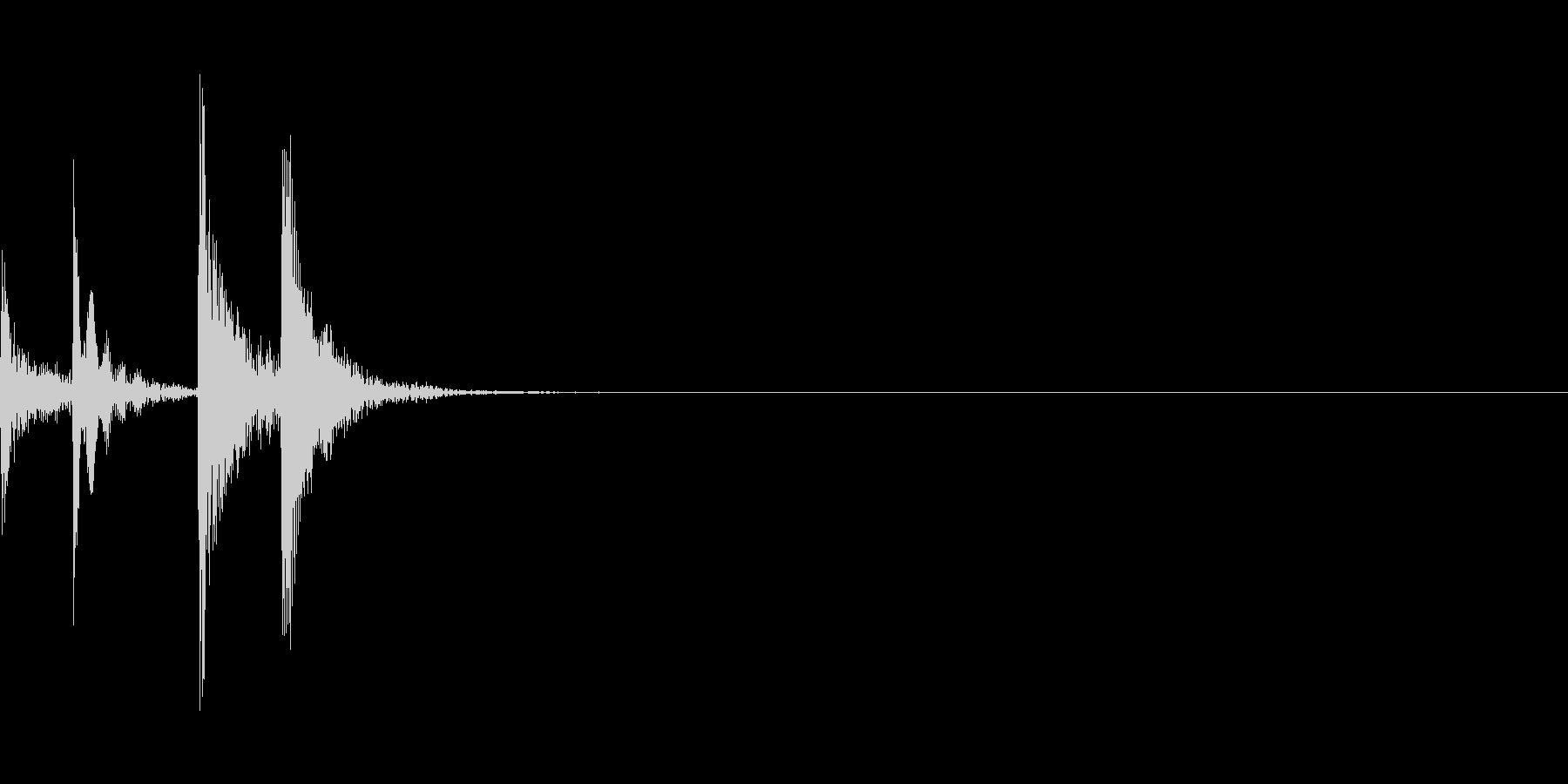 汎用的なUI音の未再生の波形