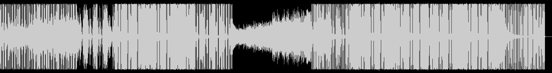 オシャレでテンポの良いハウスミュージックの未再生の波形