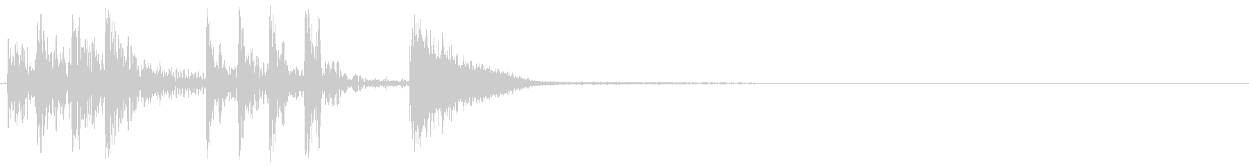ハードトムとシンバルアクセント、漫...の未再生の波形