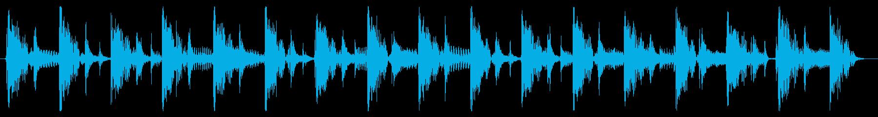 ベース生演奏のクールスラップジングル02の再生済みの波形