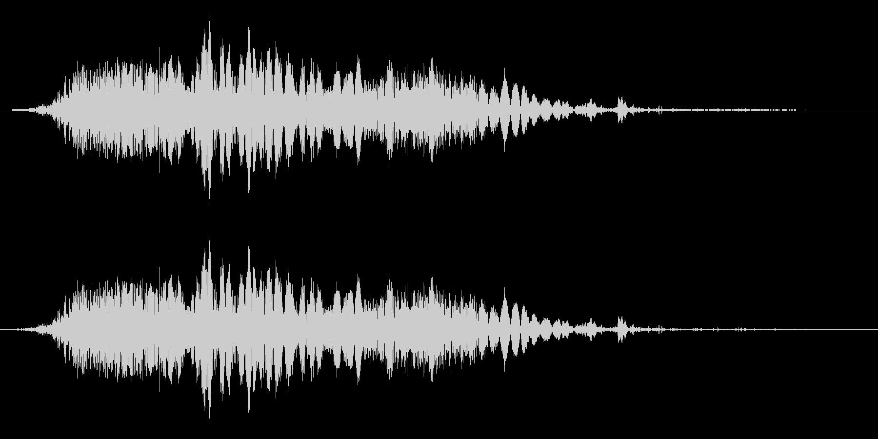 斬撃音(刀や剣で斬る/刺す効果音)14bの未再生の波形