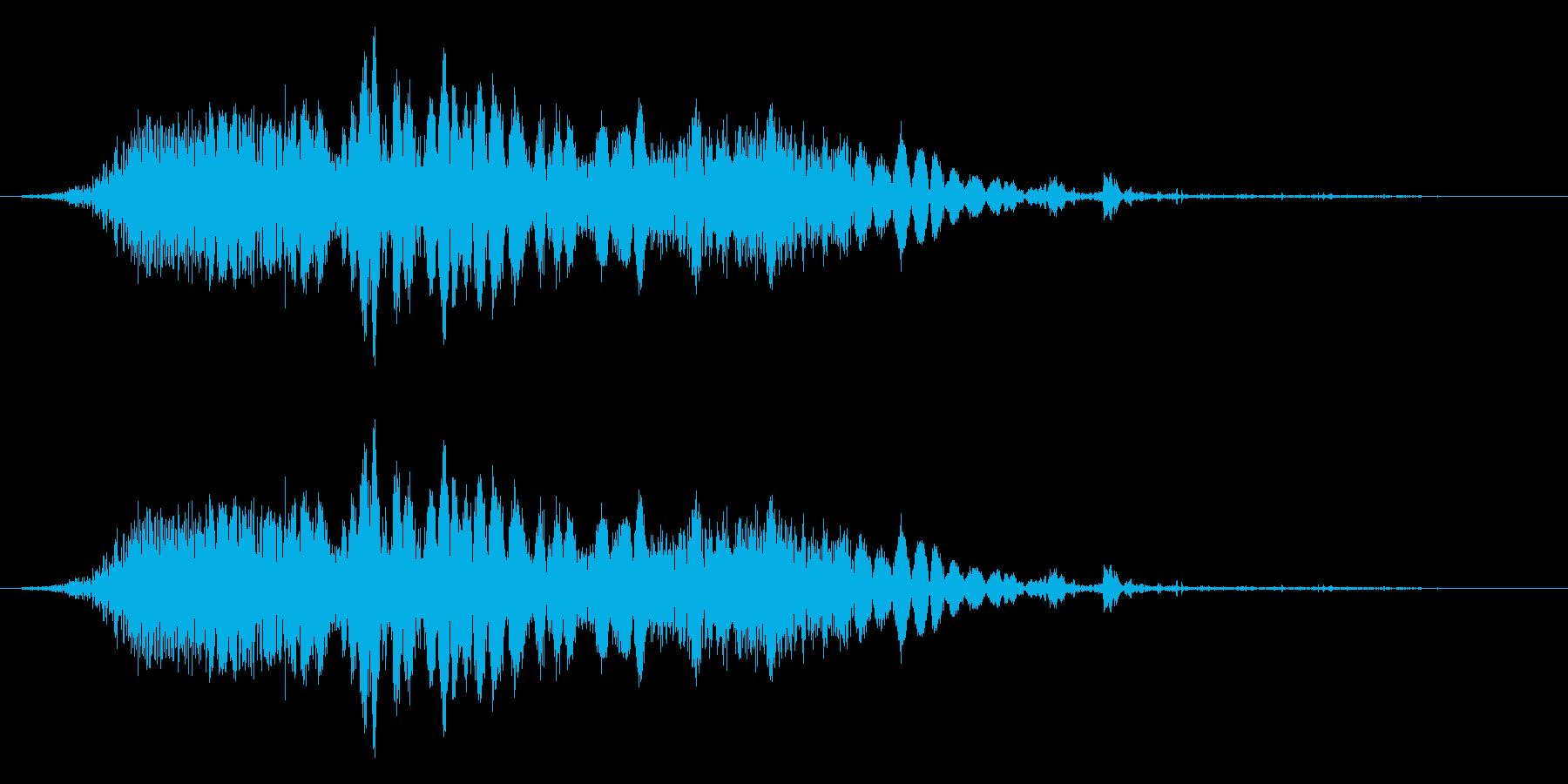 斬撃音(刀や剣で斬る/刺す効果音)14bの再生済みの波形