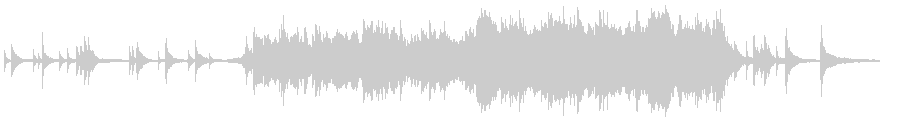 ピアノとストリングスの切ないBGMの未再生の波形