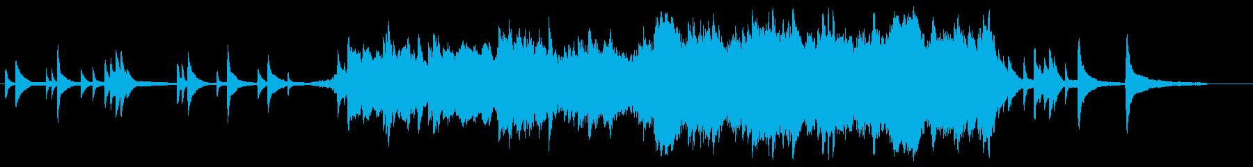 ピアノとストリングスの切ないBGMの再生済みの波形
