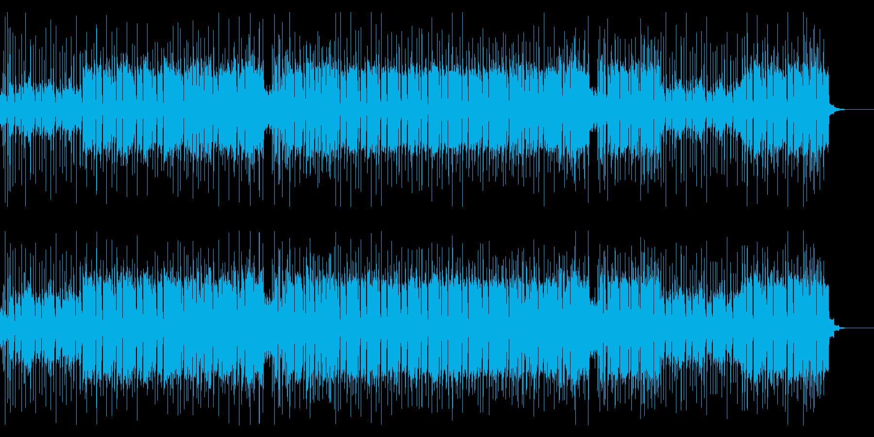 ミディアムテンポのロックなオープニングの再生済みの波形