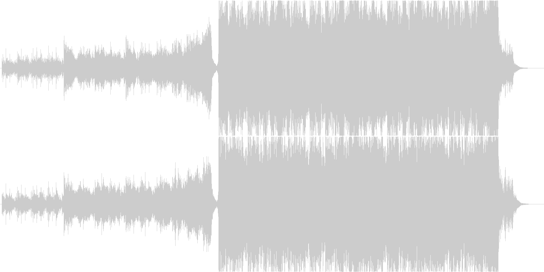 ポジティブで意思のあるオーケストラ曲の未再生の波形