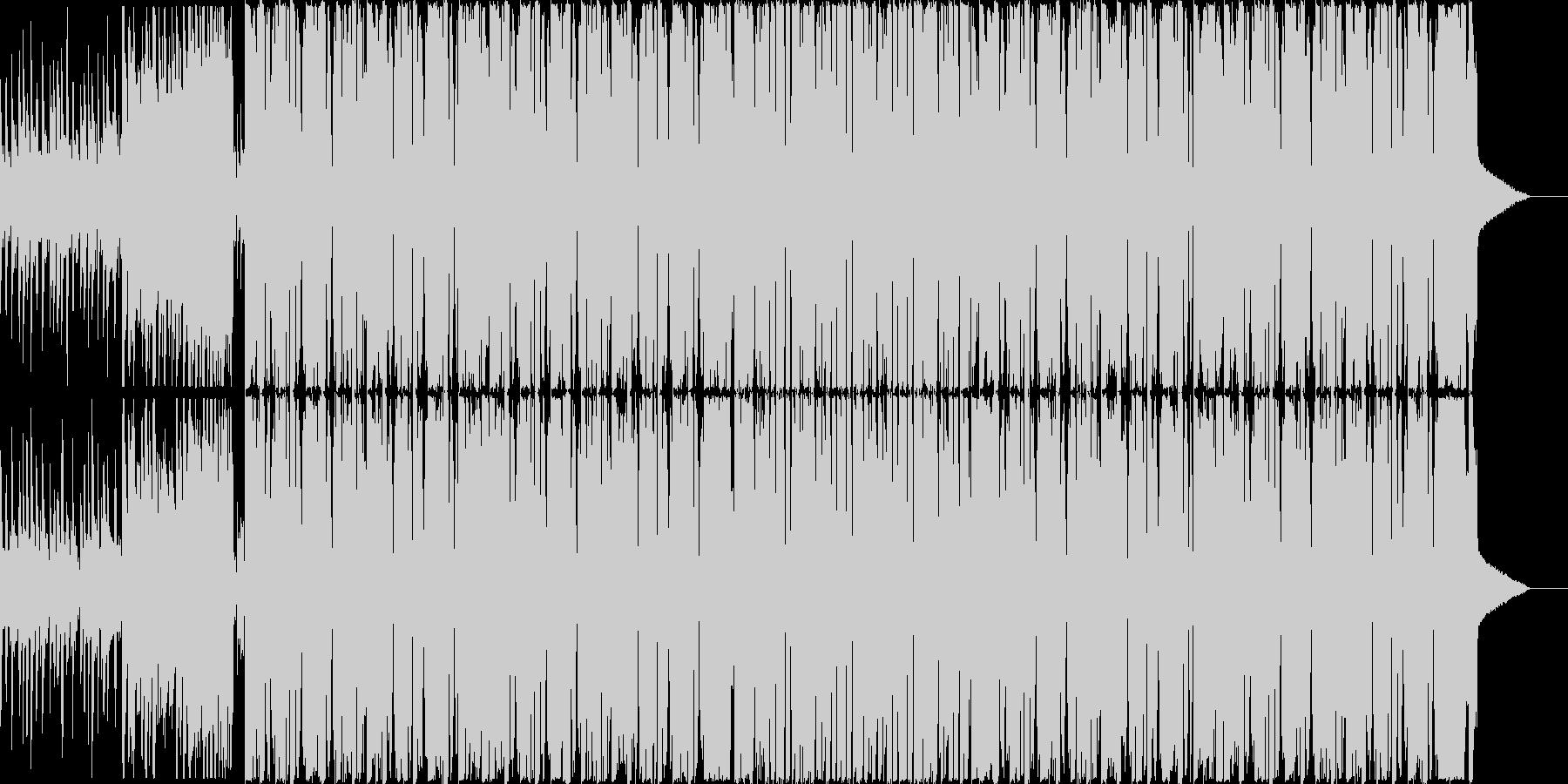 シンプルでかっこいいダブステップ曲の未再生の波形