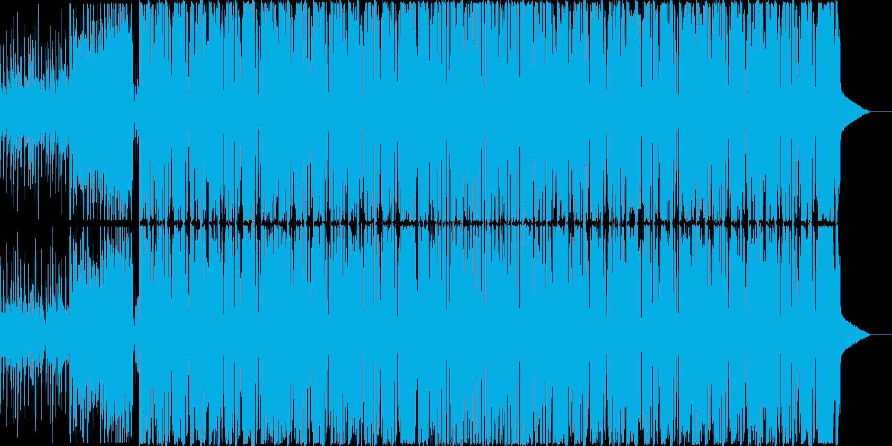 シンプルでかっこいいダブステップ曲の再生済みの波形
