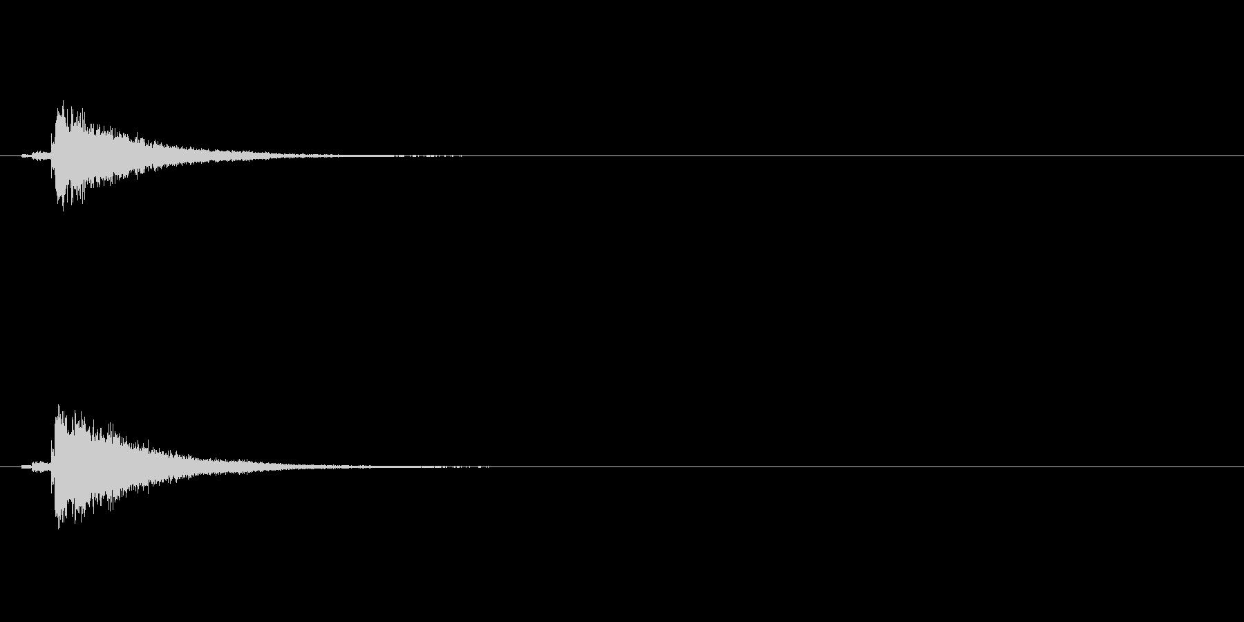 和製シンバル「みょうはち」の単発音+FXの未再生の波形