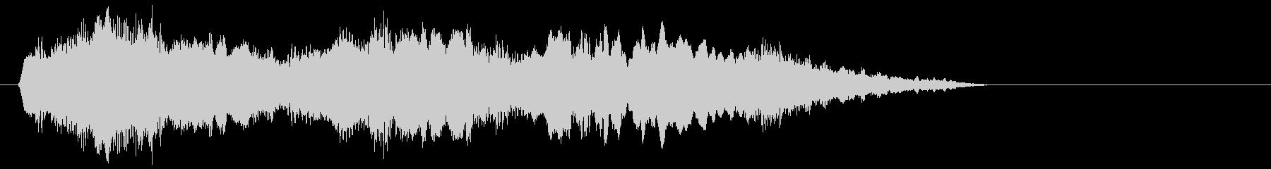 フルートとハープの不思議なジングルの未再生の波形