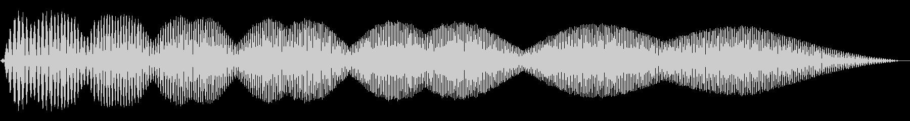電動スワイプ1の未再生の波形