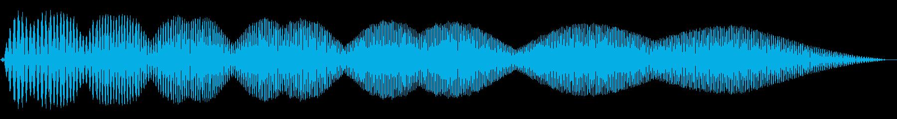 電動スワイプ1の再生済みの波形