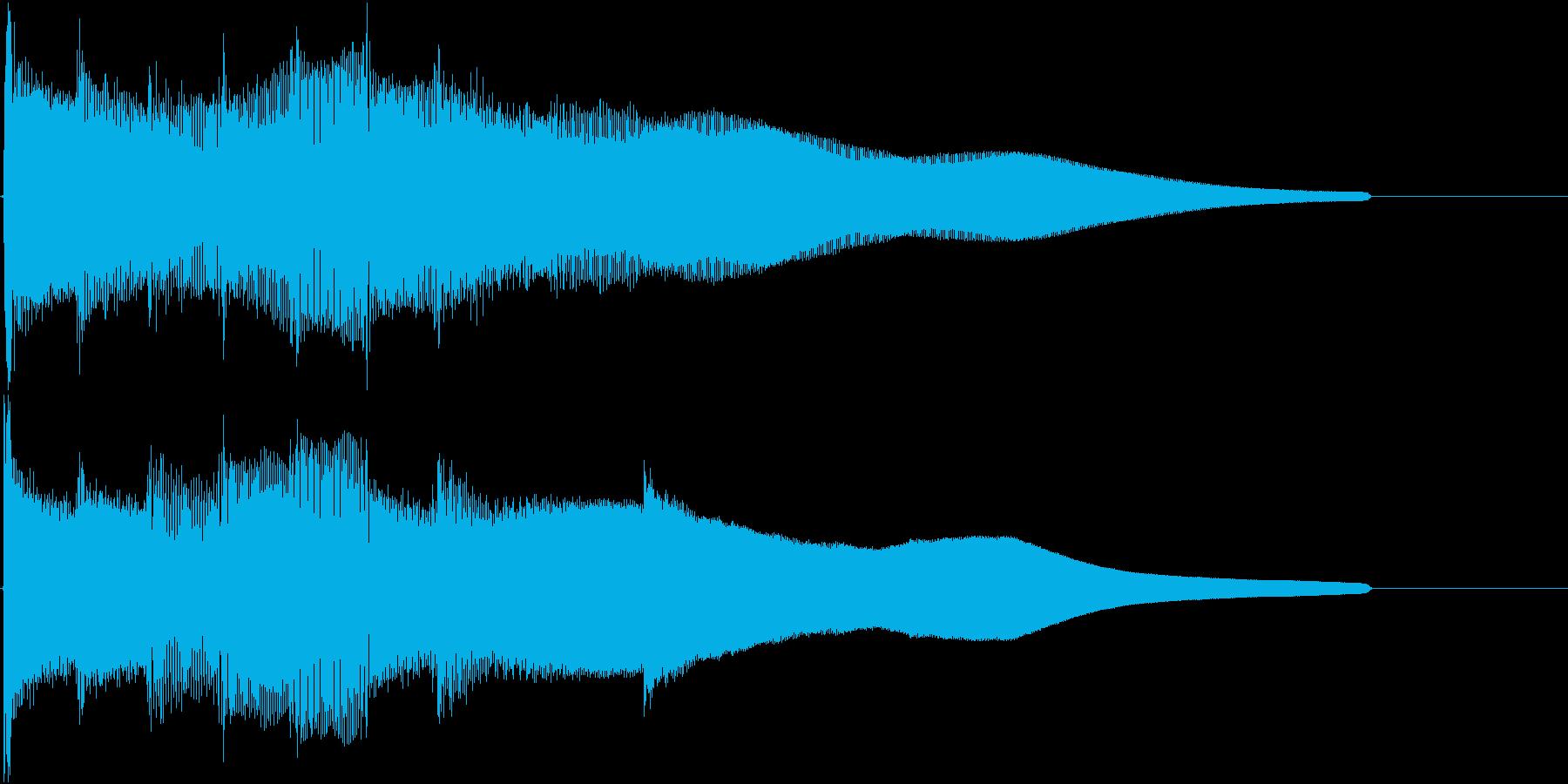 爽やかなジングルの再生済みの波形