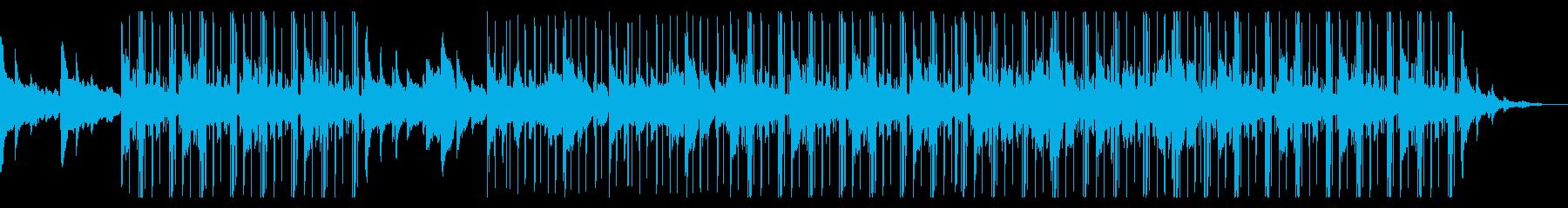 Lofi、月、夜、ピアノ、チルアウトの再生済みの波形