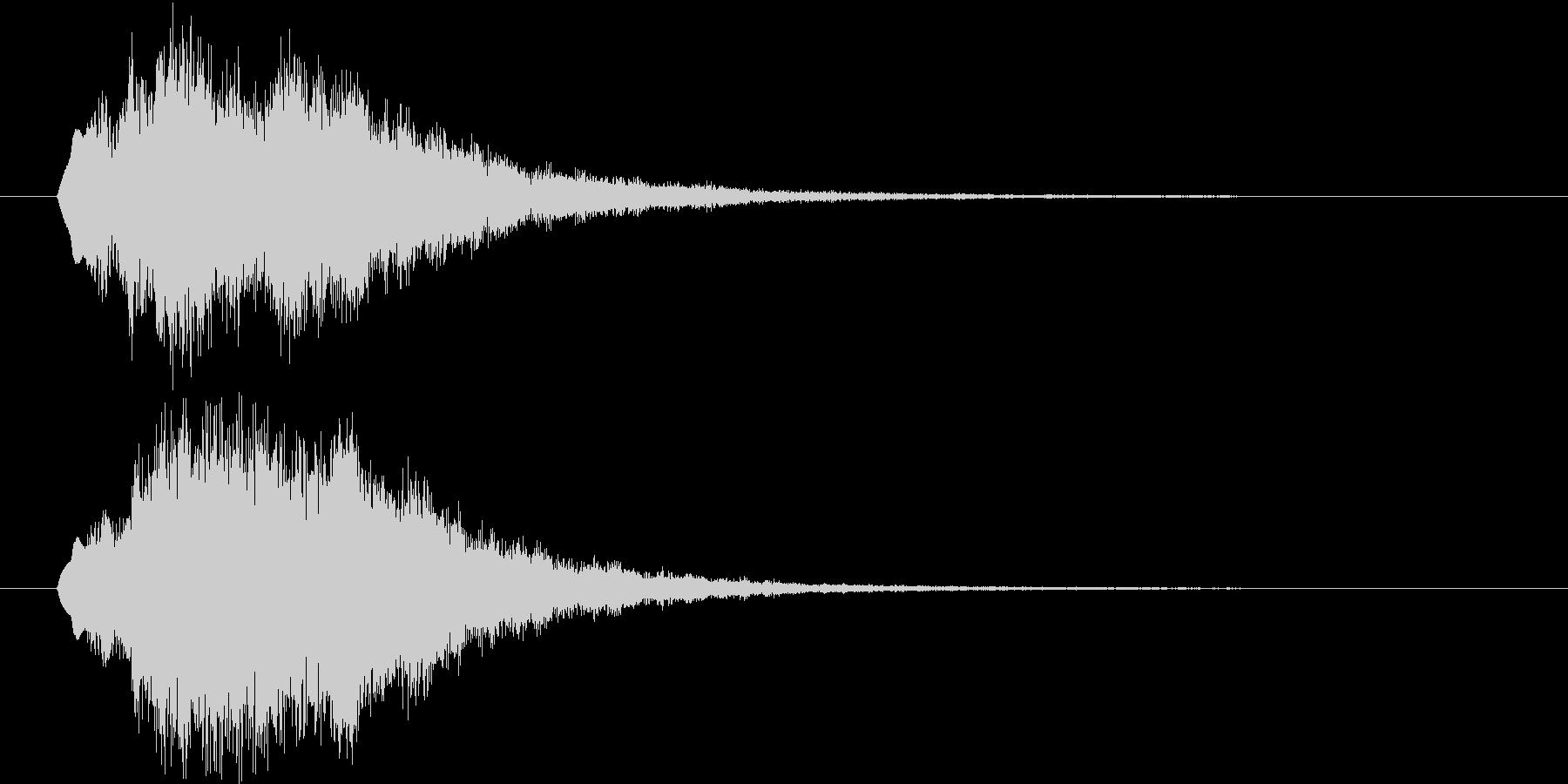 テロップ等に使えるベル系効果音の未再生の波形