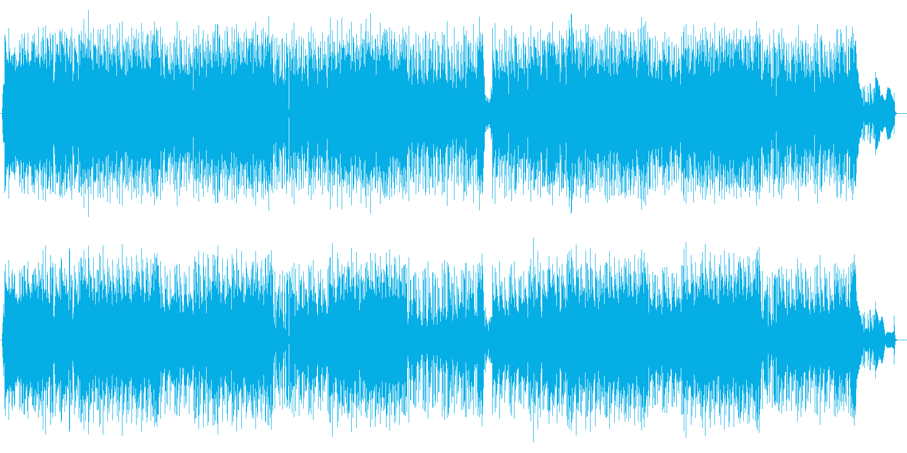 穏やかで緩やかなアコギとエレキサウンドの再生済みの波形