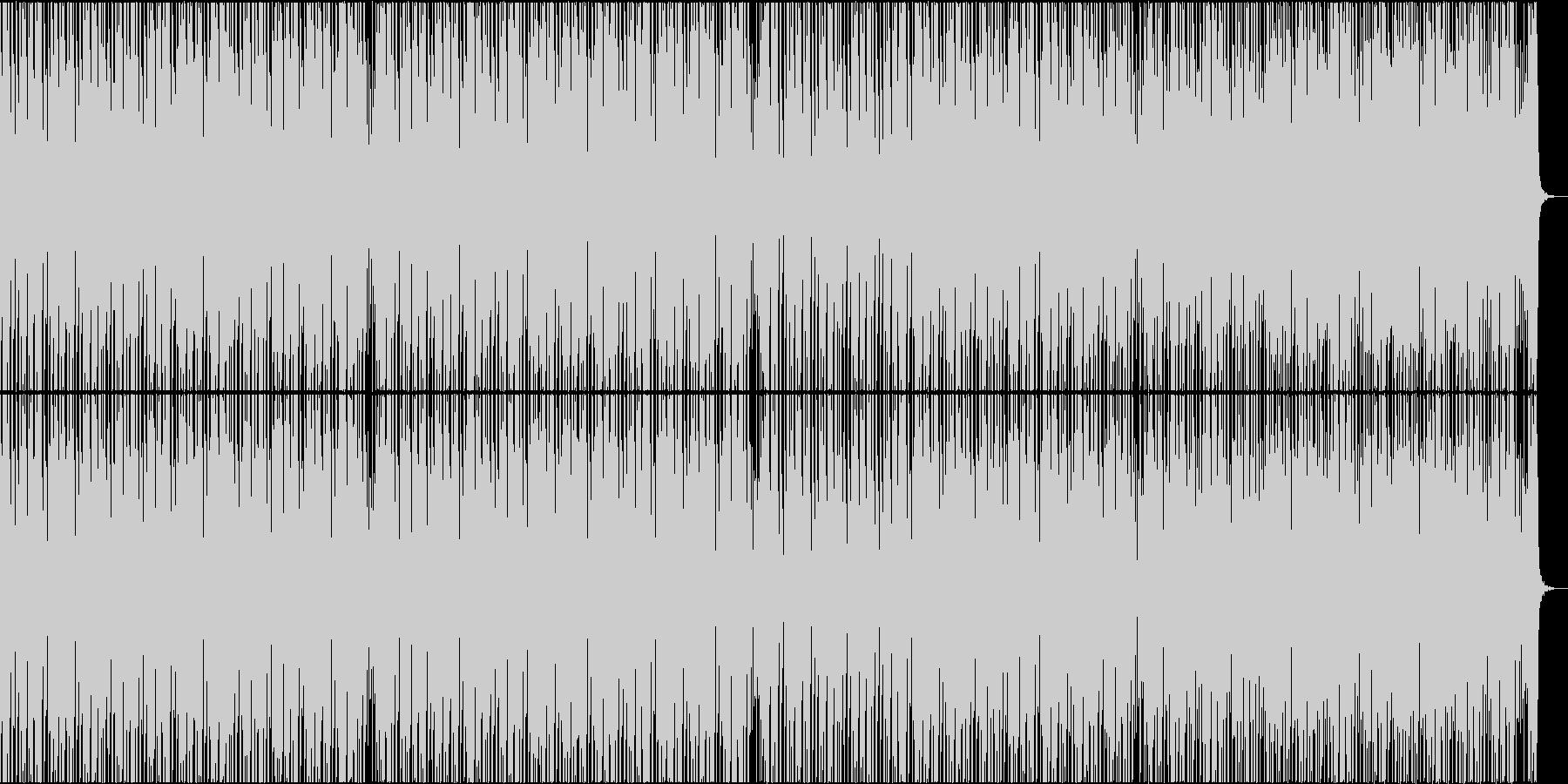 明るく弾むようなミニマルハウスの未再生の波形
