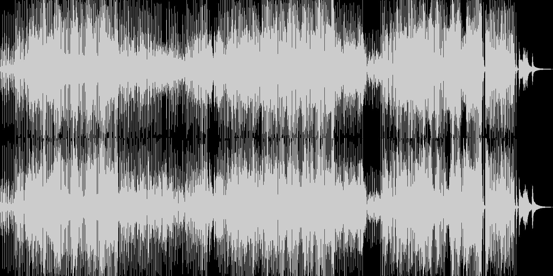 三味線・軽快ユーモラスなジャズ+サックスの未再生の波形
