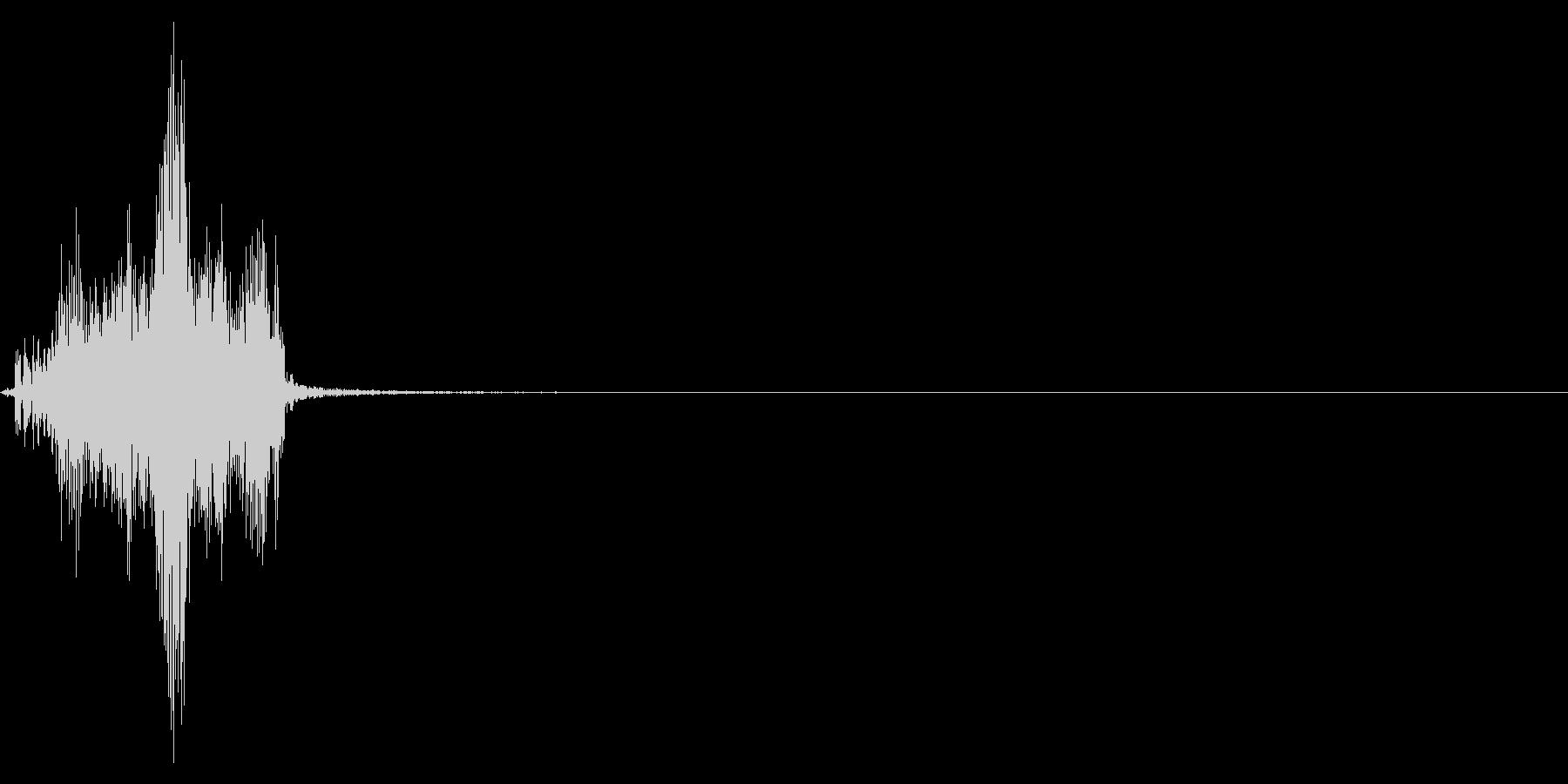ジッパー、ファスナーを閉じる音2-5の未再生の波形