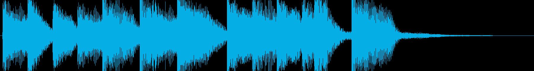ピアノで短く美しい旋律の再生済みの波形