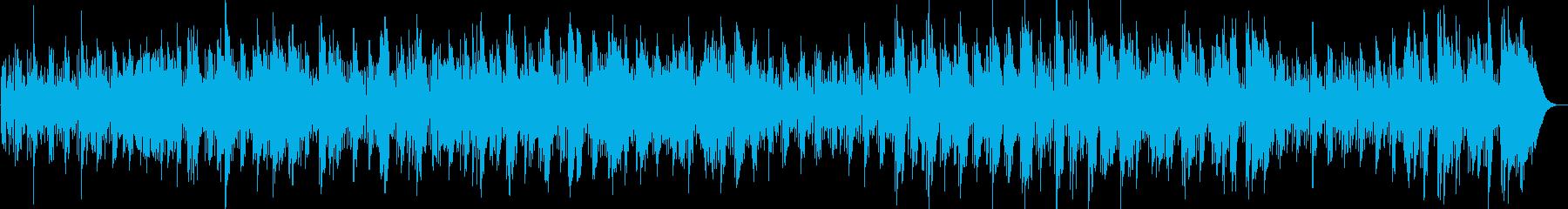 明るく爽やかなサックスか奏でる曲の再生済みの波形