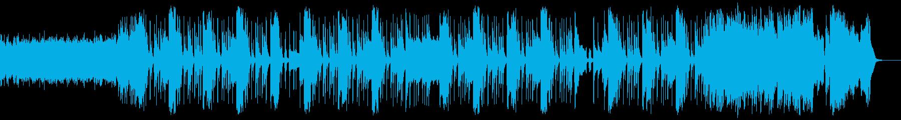 シンプルで若々しいギターロックの再生済みの波形