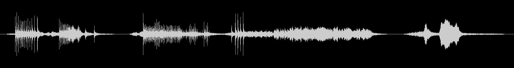トラップドア、ヘビークリークx3の未再生の波形