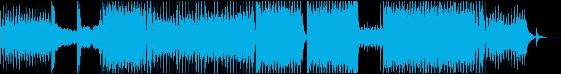 エレキギターの勢いがあるハロウィン曲の再生済みの波形