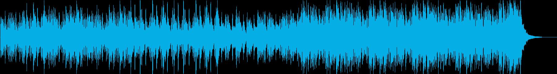 悲劇的で重々しいフルオーケストラ楽曲の再生済みの波形