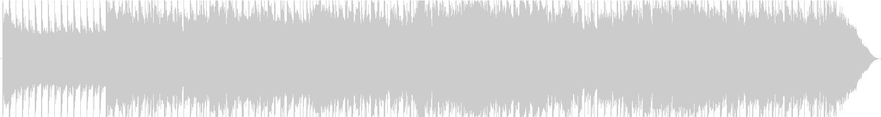 ダークな雰囲気のあるロックサウンドの未再生の波形