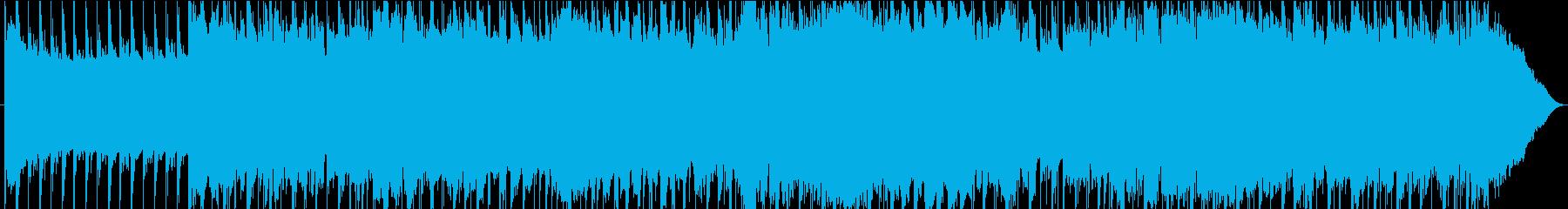 ダークな雰囲気のあるロックサウンドの再生済みの波形