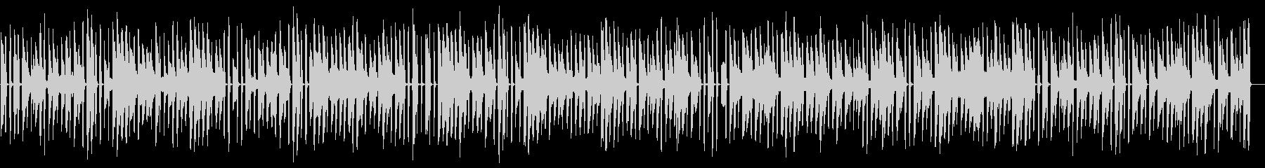 少し調子外れのホンキートンクピアノの未再生の波形