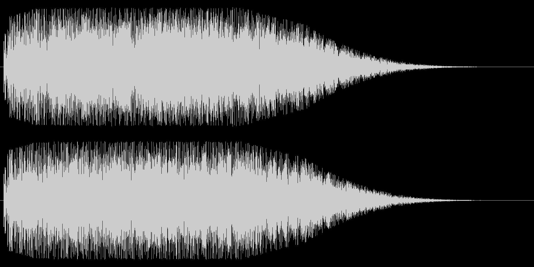 銅鑼(ドラ)を使ったインパクト音の未再生の波形