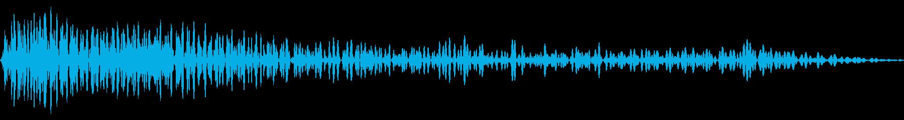 ドゥーン 下降 ウッドベースの再生済みの波形