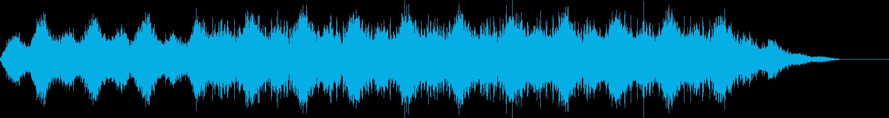 プラネタリウムなどの宇宙を感じる楽曲の再生済みの波形