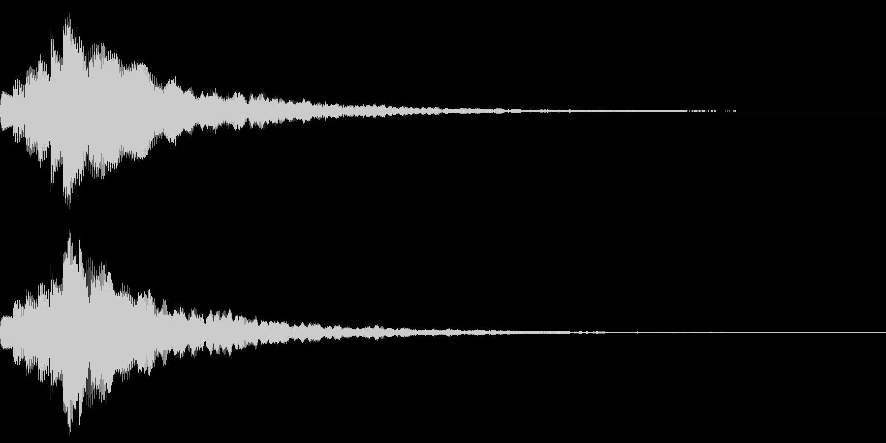 キラン!なアタック音8の未再生の波形