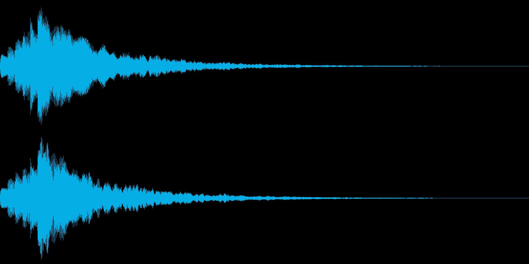 キラン!なアタック音8の再生済みの波形