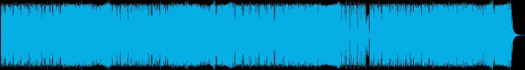 ジャジーとポップのミックス。電子。の再生済みの波形
