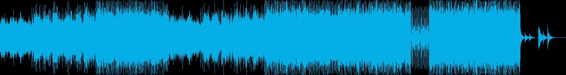クラシックなメロディの現代的ハイテンポ曲の再生済みの波形