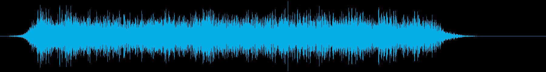 音楽:不気味なピアノの音、雨のステ...の再生済みの波形