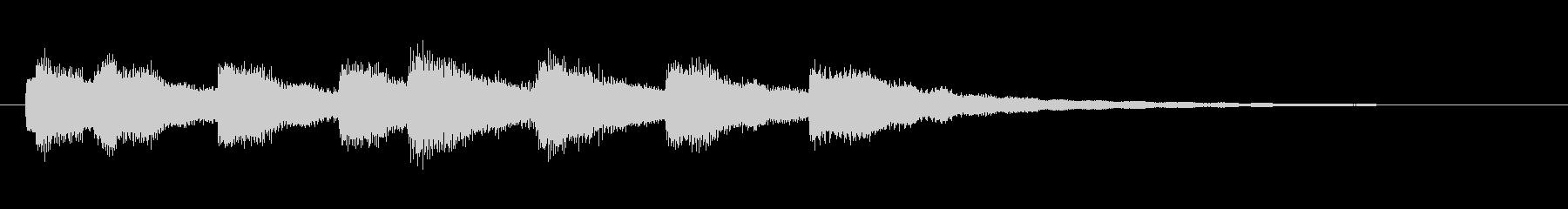 ベル音色の快活なジングルの未再生の波形