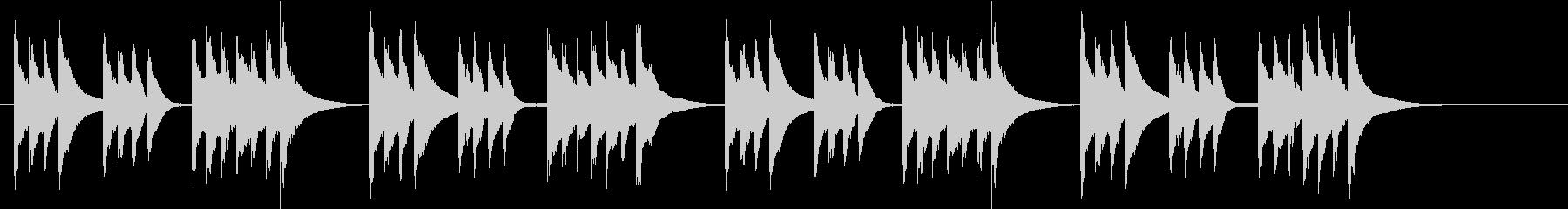木琴のみで作ったのんびりした短い曲の未再生の波形