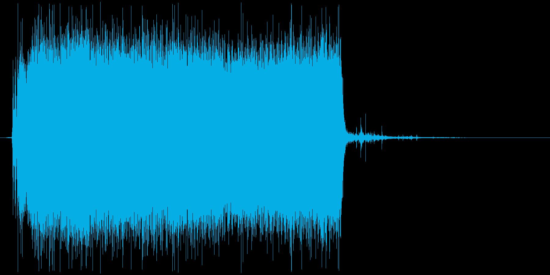 シャワーを出す音(ジャーッ、シャーッ)の再生済みの波形